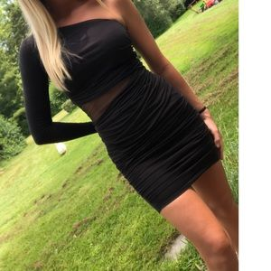 ASOS | One shoulder long sleeve bodycon dress